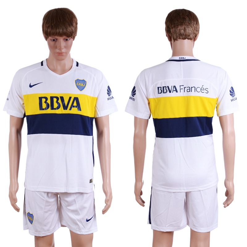 2016-2017 Boca Juniors away White Blank Soccer Jersey