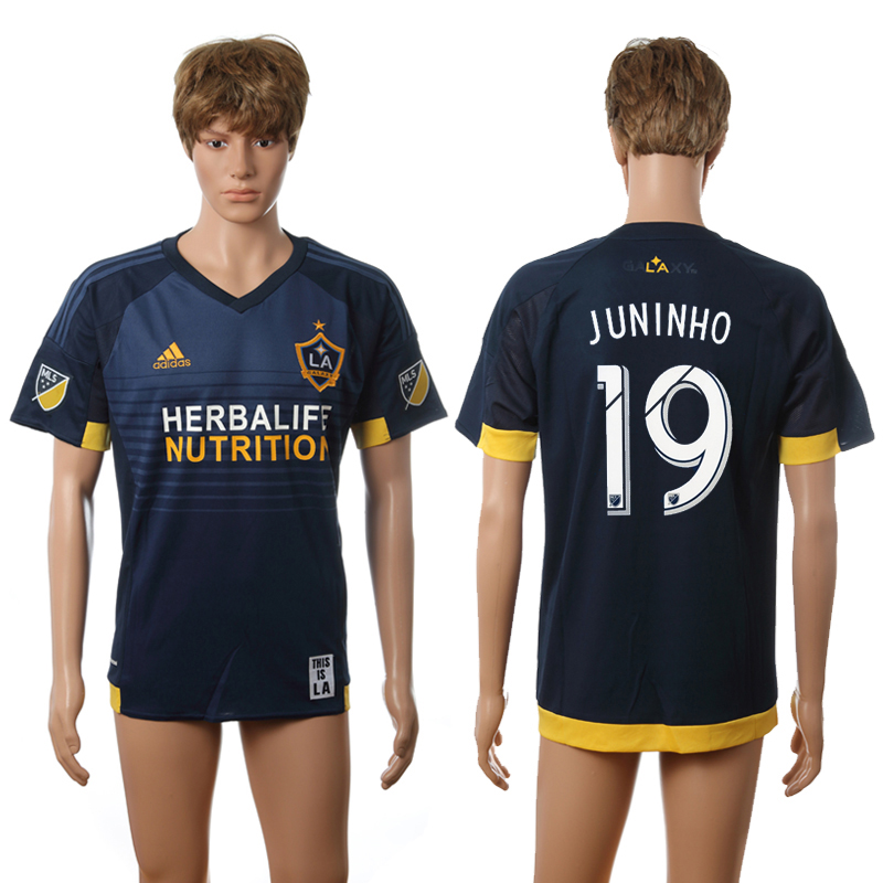 2016-2017 LA Galaxy away 19 Juninho blue AAA+ soccer jerseys