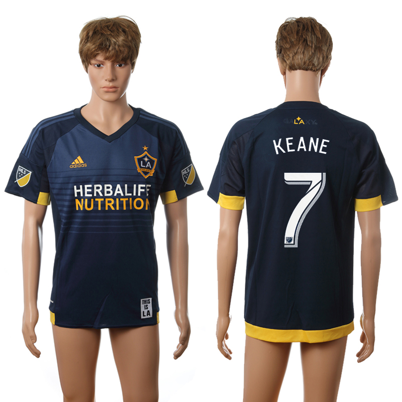 2016-2017 LA Galaxy away 7 Keane blue AAA+ soccer jerseys