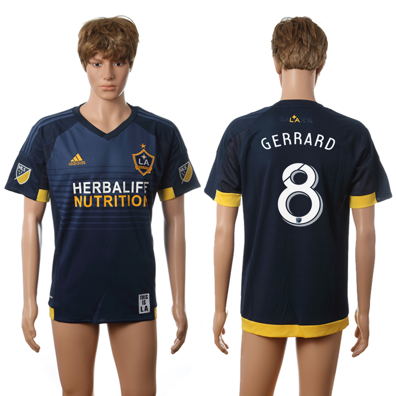 2016-2017 LA Galaxy away 8 Gerrard blue AAA+ soccer jerseys