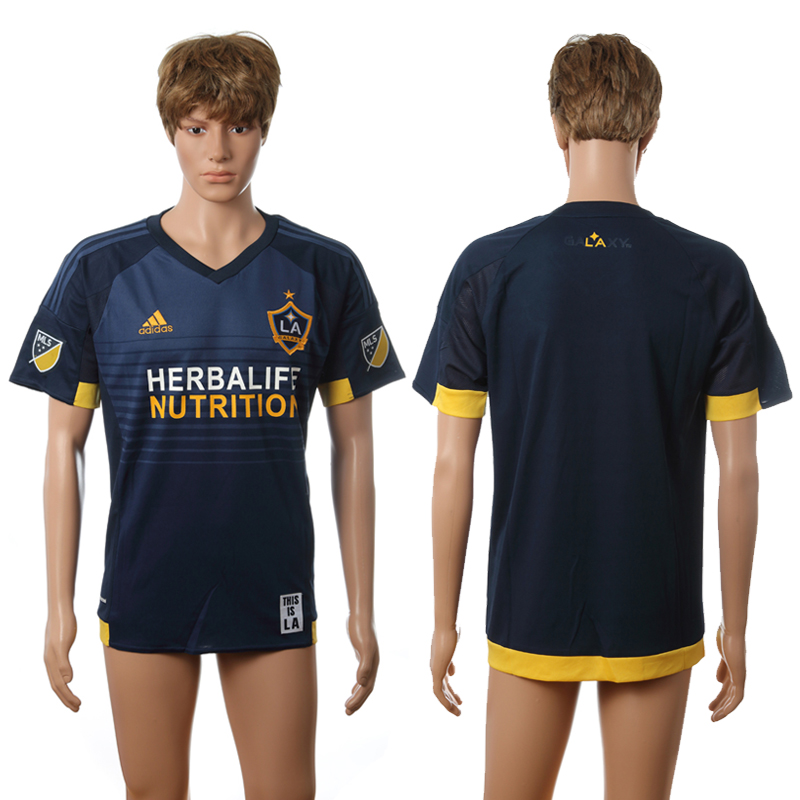 2016-2017 LA Galaxy away blank blue AAA+ soccer jerseys