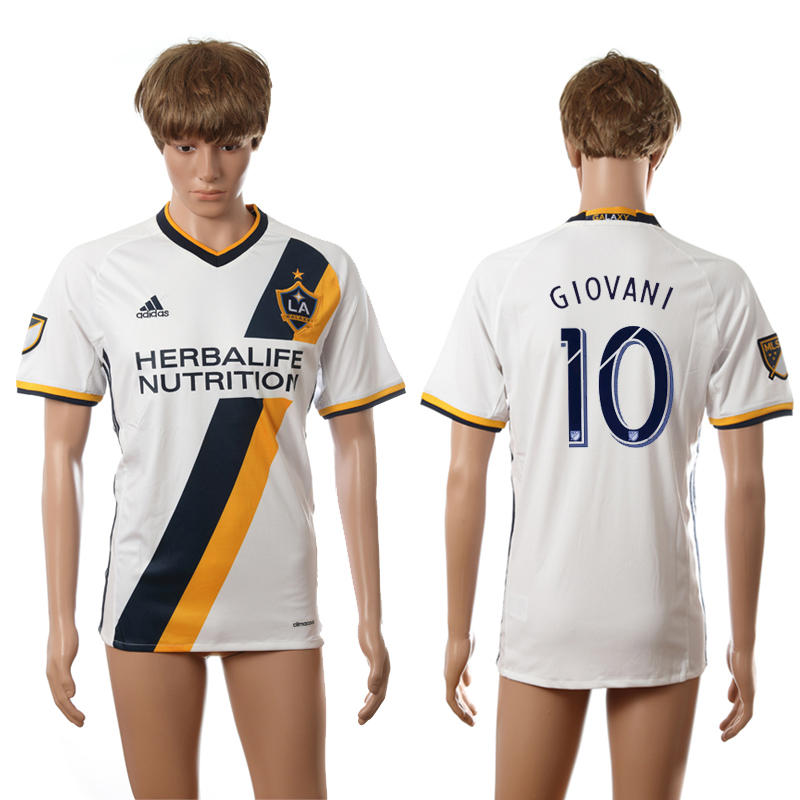 2016-2017 LA Galaxy home 10 Giovani white AAA+ soccer jerseys