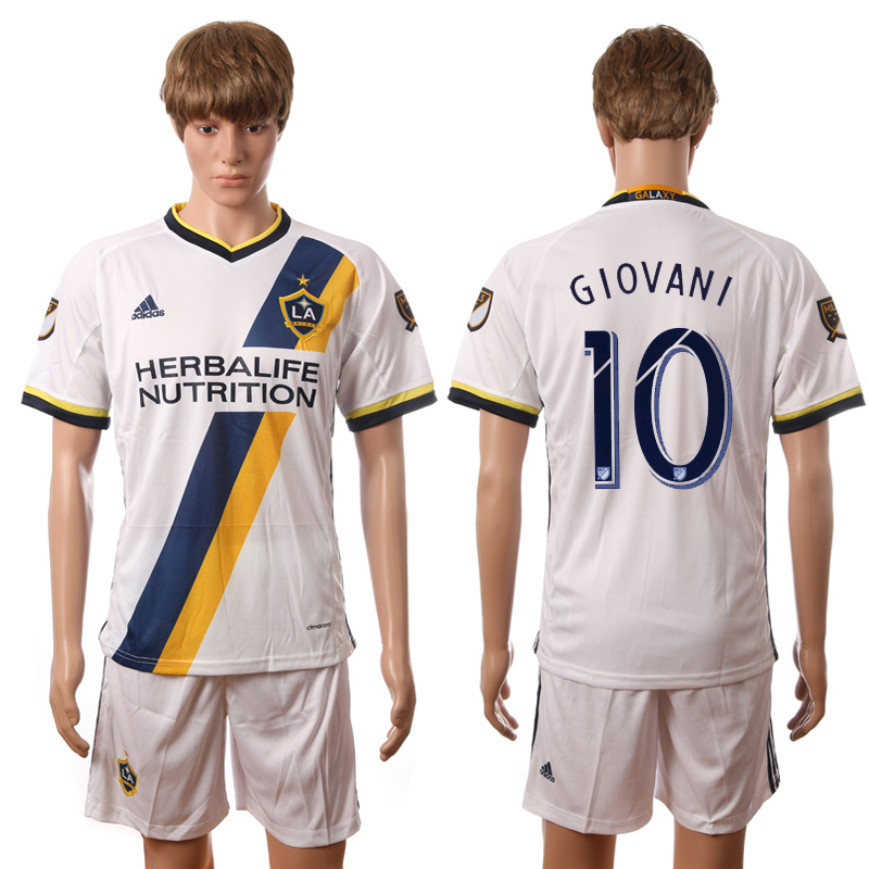 2016-2017 LA Galaxy home 10 Giovani white soccer jerseys