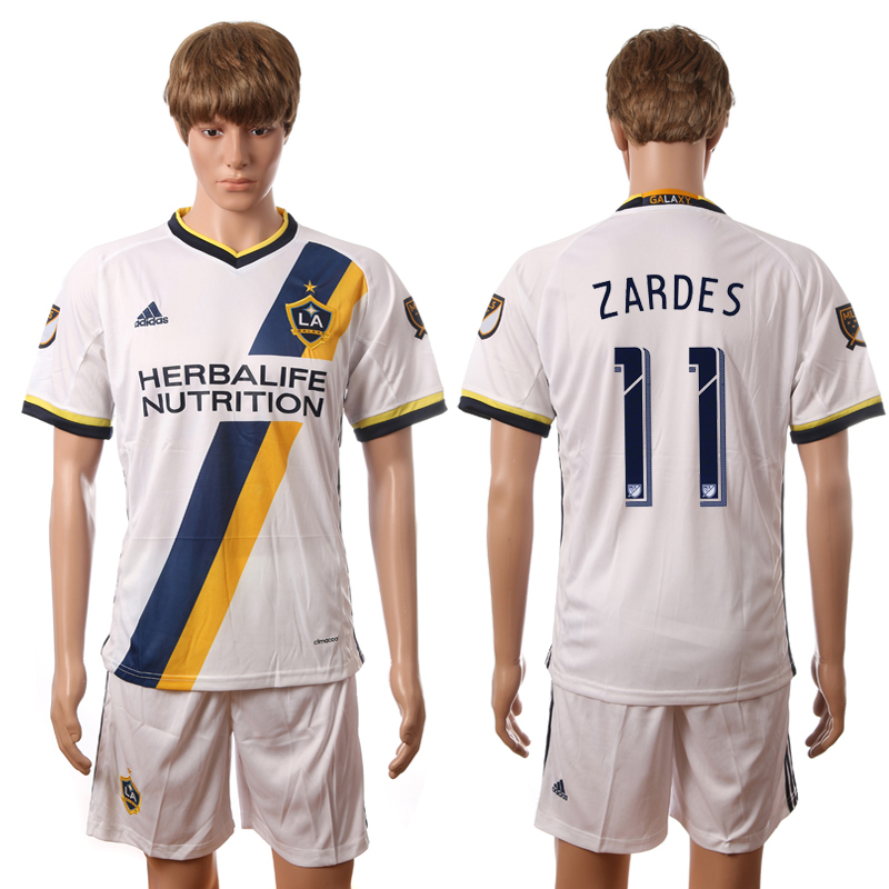 2016-2017 LA Galaxy home 11 Zardes white soccer jerseys