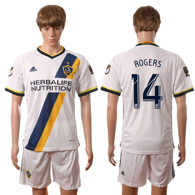 2016-2017 LA Galaxy home 14 Rogers white soccer jerseys