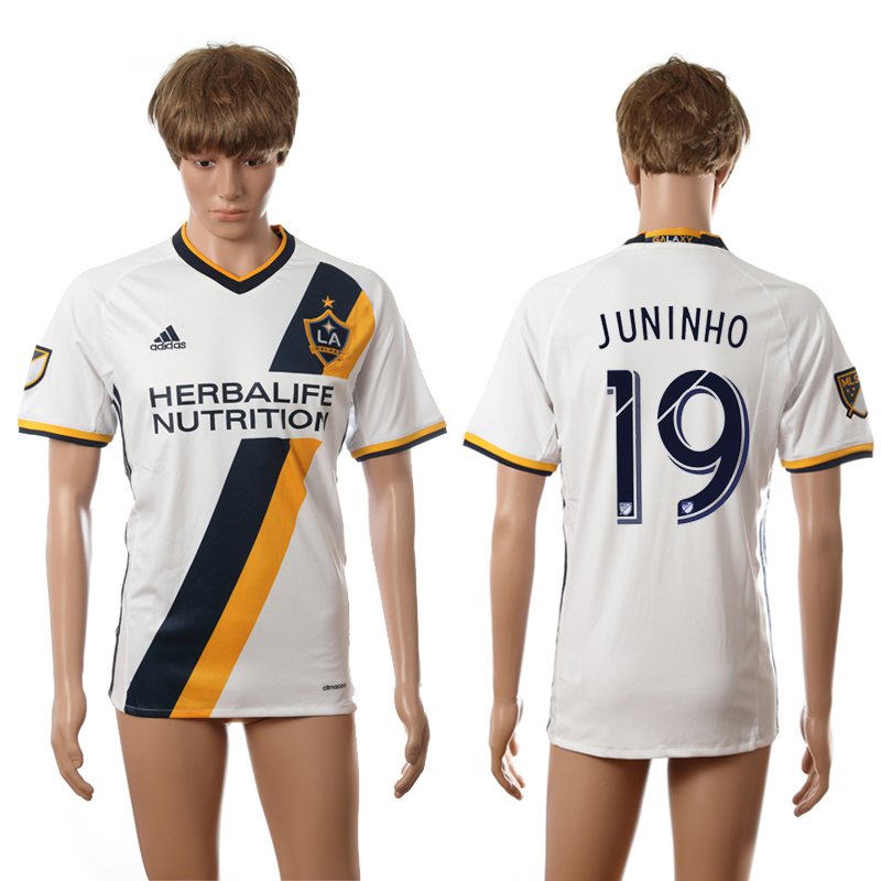 2016-2017 LA Galaxy home 19 Juninho white AAA+ soccer jerseys