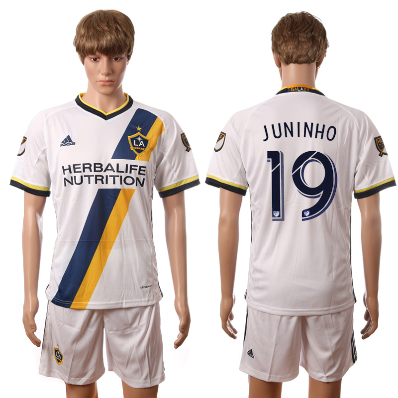 2016-2017 LA Galaxy home 19 Juninho white soccer jerseys