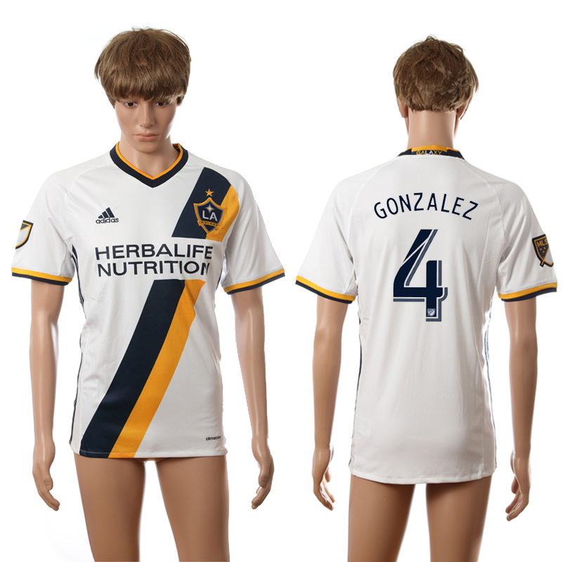 2016-2017 LA Galaxy home 4 Gonzalez white AAA+ soccer jerseys