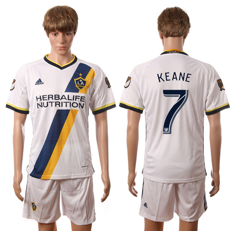 2016-2017 LA Galaxy home 7 Keane white soccer jerseys