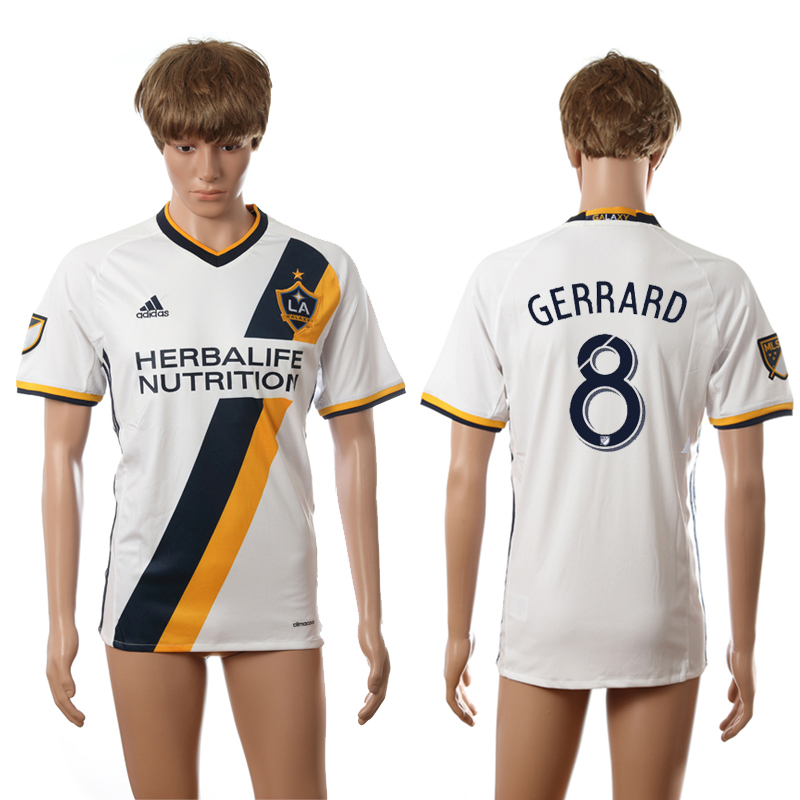 2016-2017 LA Galaxy home 8 Gerrard white AAA+ soccer jerseys