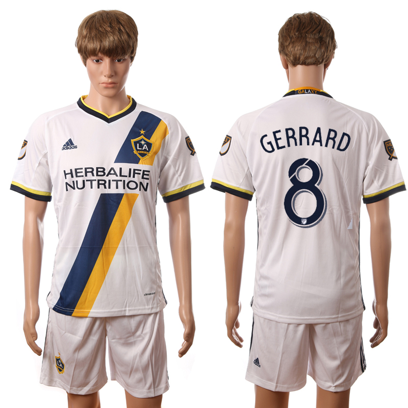 2016-2017 LA Galaxy home 8 Gerrard white soccer jerseys