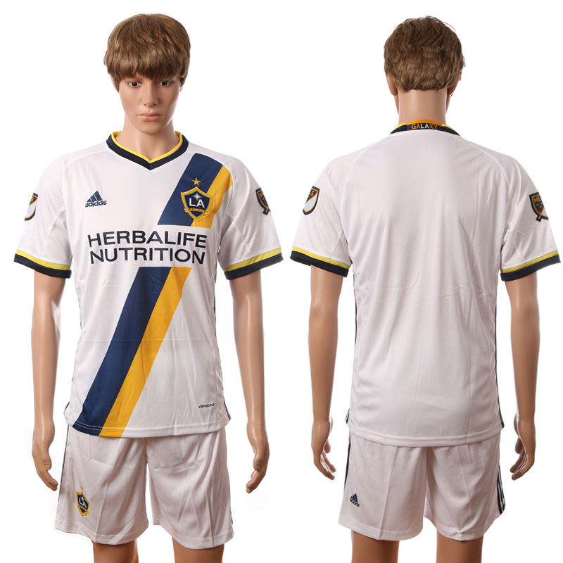 2016-2017 La Galaxy home blank white soccer jerseys