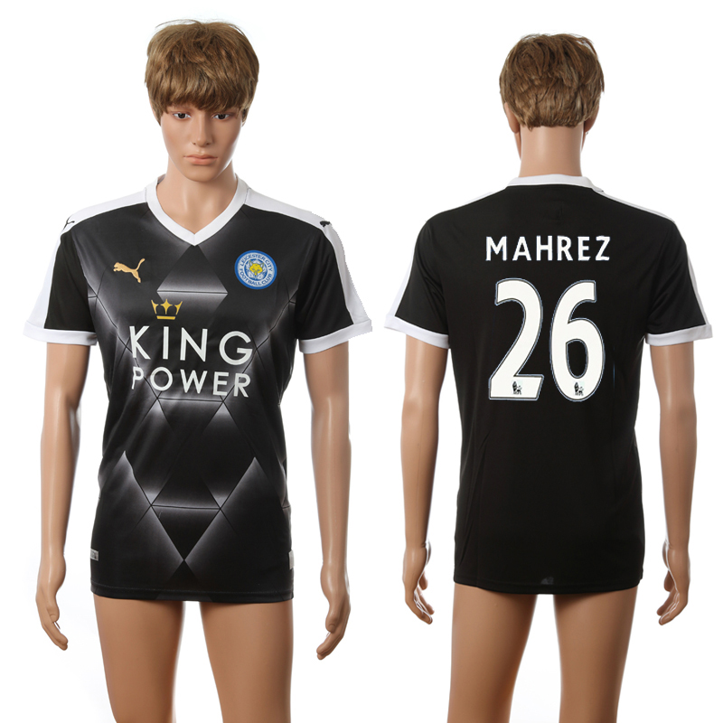 2016-2017 Leicester City away 26 Mahrez black AAA+ soccer jerseys