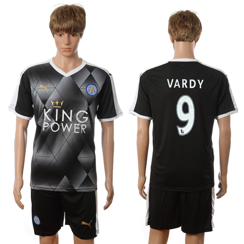 2016-2017 Leicester City away 9 Vardy black soccer jerseys