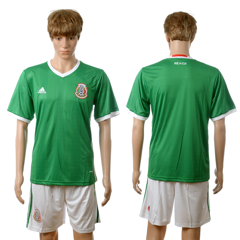 2016-2017 Mexico home blank green Custom soccer jerseys
