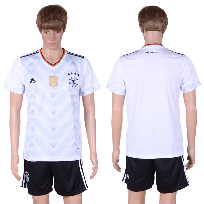 2016-2017 National Germany Confederations Cup home White Soccer Jersey