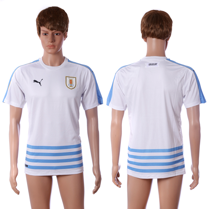 2016-2017 National Uruguay away blank white AAA+ soccer jerseys
