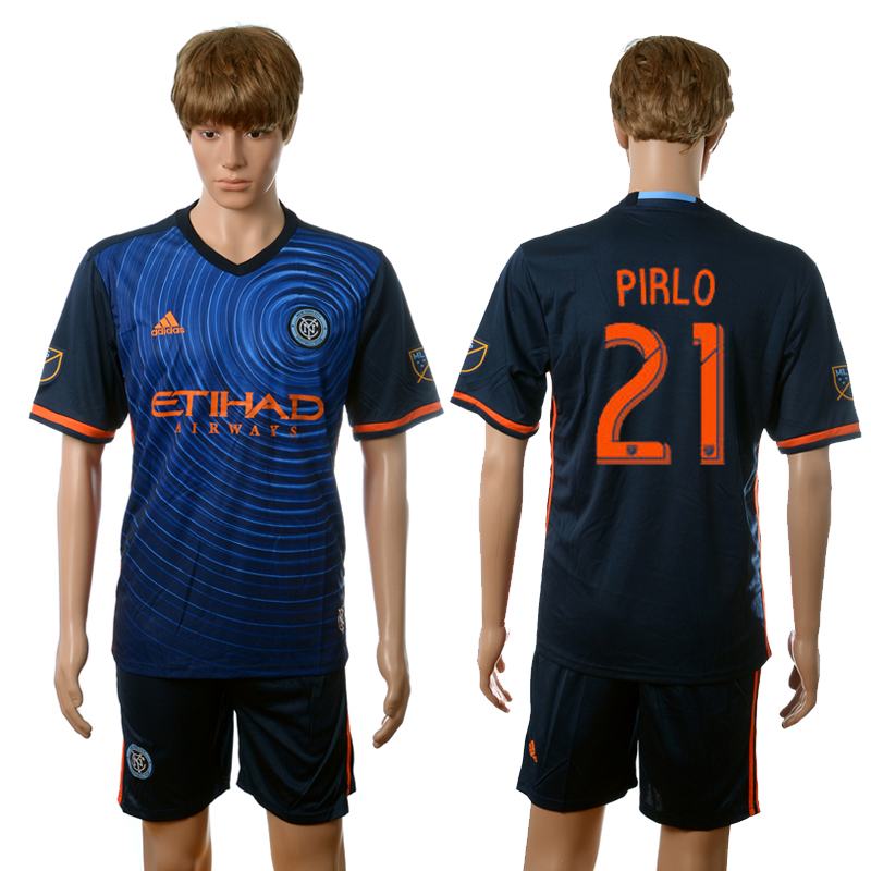 2016-2017 New York City FC away 21 Pirlo blue soccer jerseys