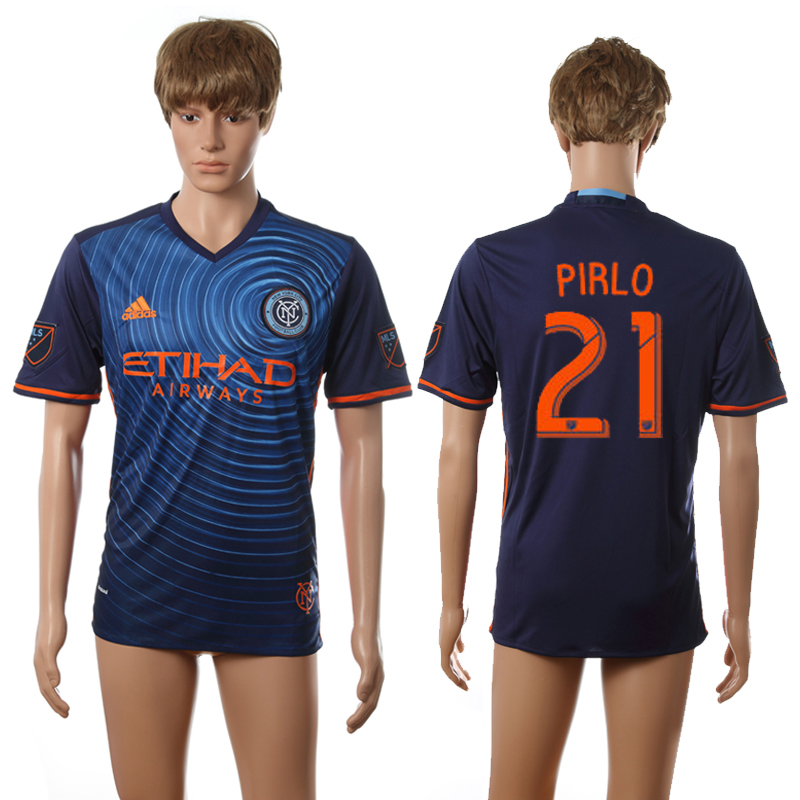 2016-2017 New York City FC away 21 Pirlo white AAA+ soccer jerseys