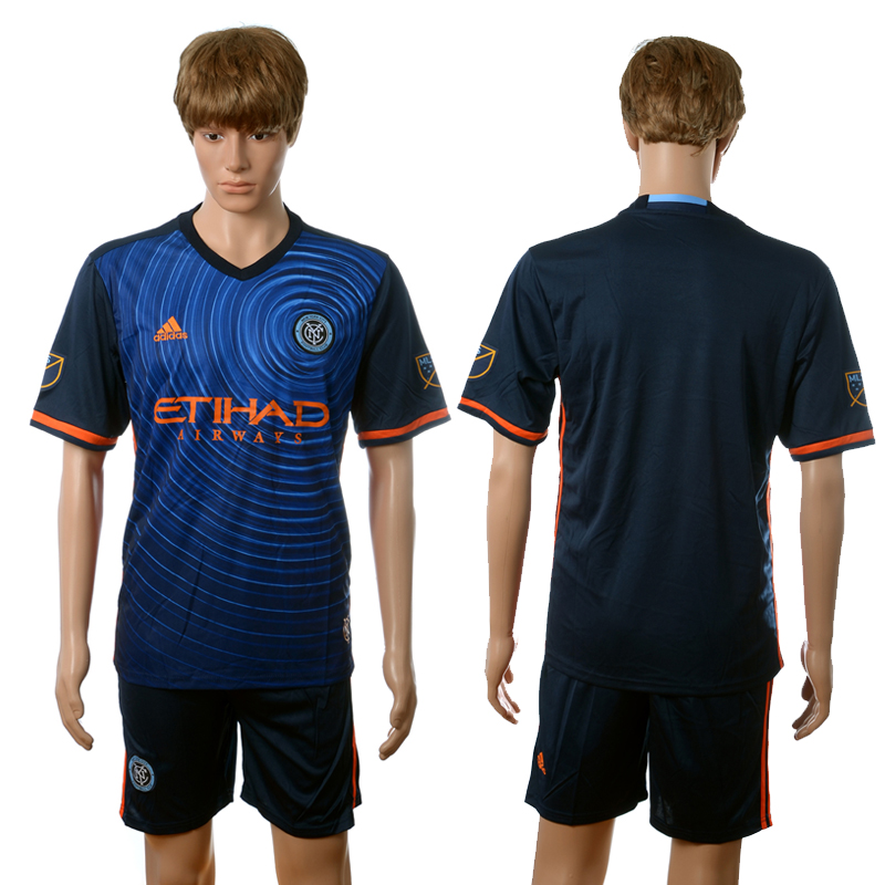 2016-2017 New York City away blank blue soccer jerseys