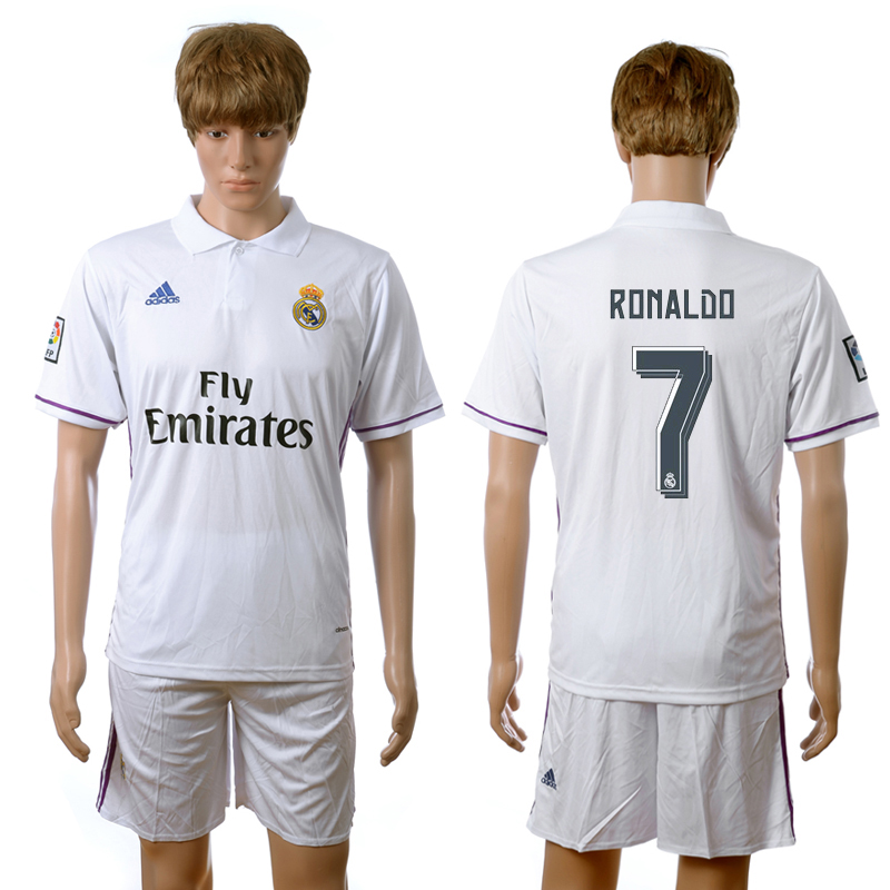 2016-2017 Real Madrid home 7 Ronaldo white soccer jerseys