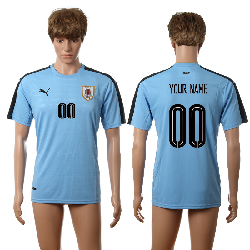 2016-2017 Uruguay home blue AAA+ Custom soccer jerseys