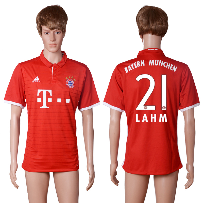 2016-2017 club Bayern Munich home 21 LAHM Red AAA+ soccer jerseys