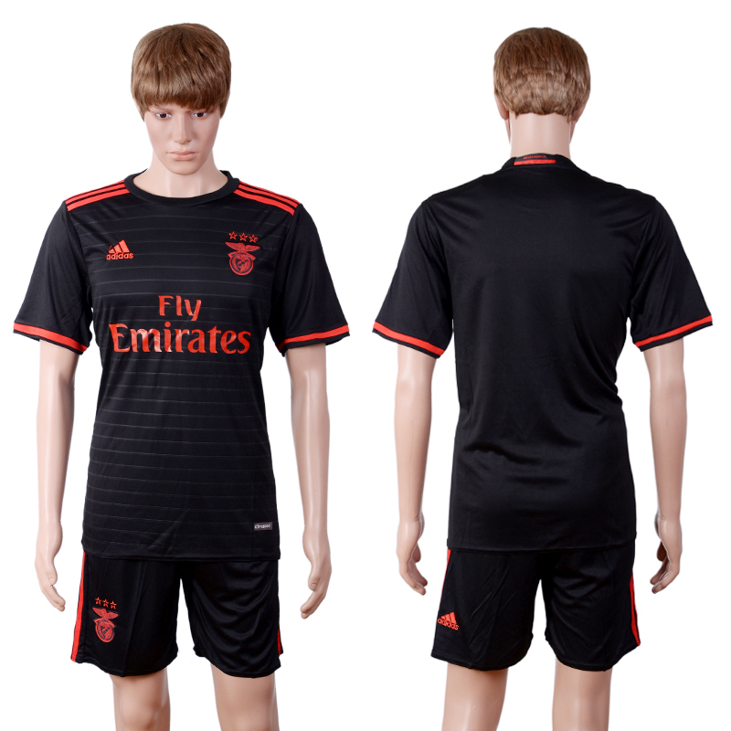 2016-2017 club Benfica away black soccer jerseys
