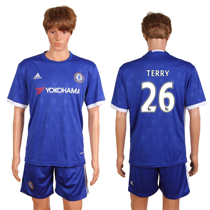 2016-2017 club Chelsea home 26 Terry blue soccer jerseys