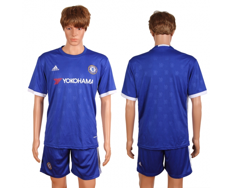 2016-2017 club Chelsea home blank blue soccer jerseys