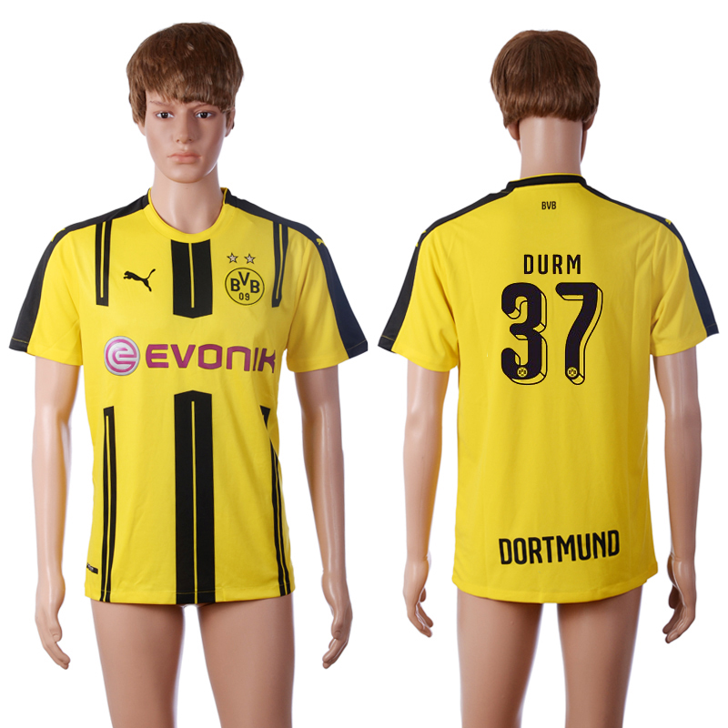 2016-2017 club Dortmund home 37 DURM Yellow AAA+ Soccer Jersey