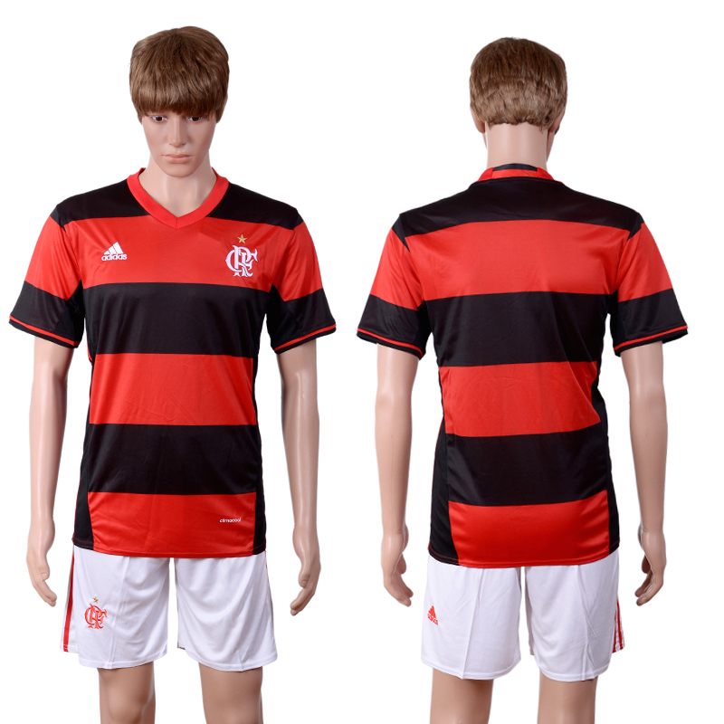 2016-2017 club Flamengo home red soccer jerseys