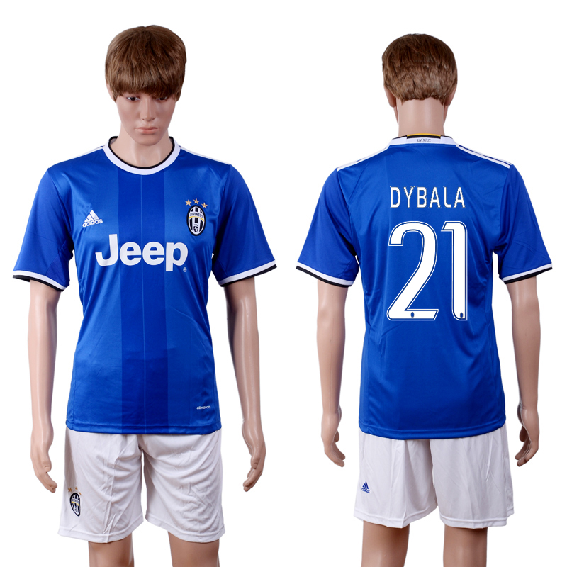 2016-2017 club Juventus away 21 Blue Soccer Jersey