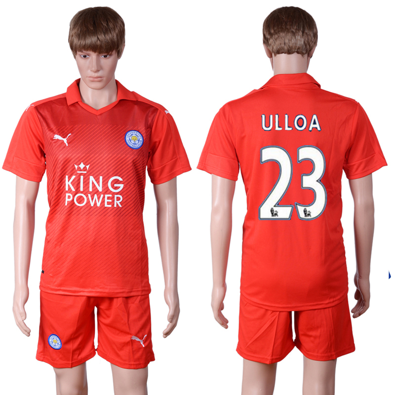 2016-2017 club Leicester City away 23 Red Soccer Jersey