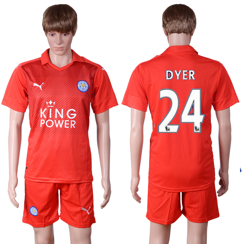 2016-2017 club Leicester City away 24 Red Soccer Jersey