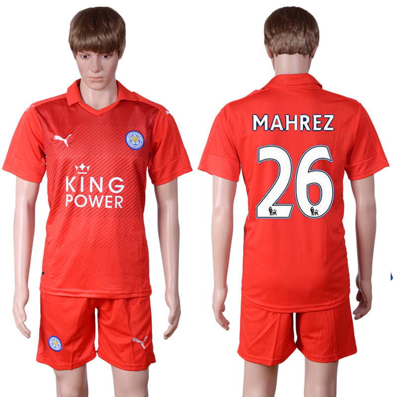 2016-2017 club Leicester City away 26 Red Soccer Jersey