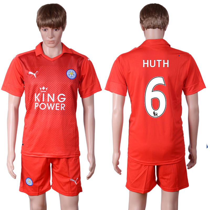 2016-2017 club Leicester City away 6 Red Soccer Jersey