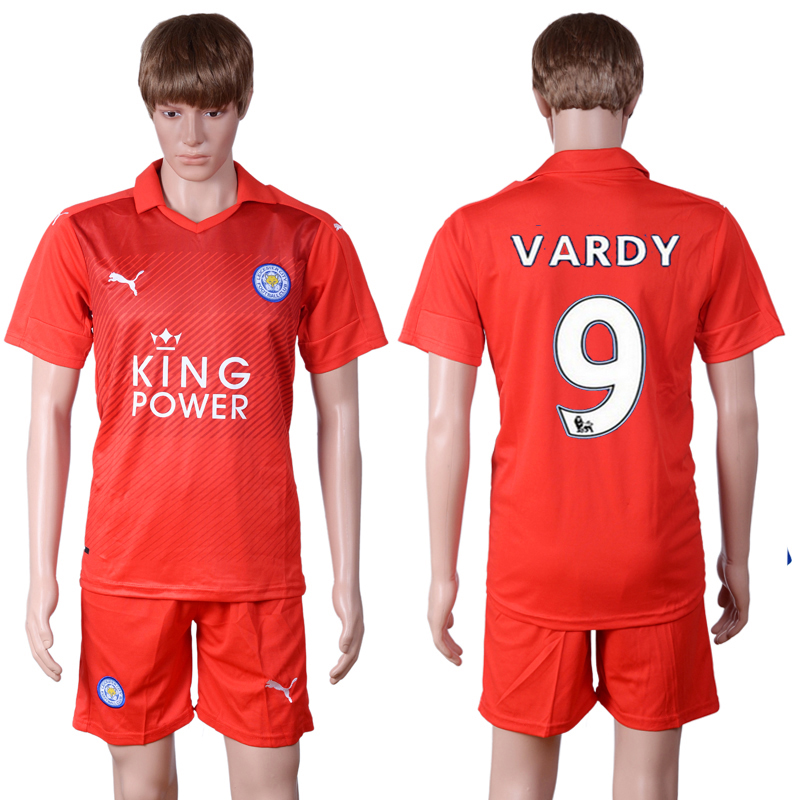 2016-2017 club Leicester City away 9 Red Soccer Jersey