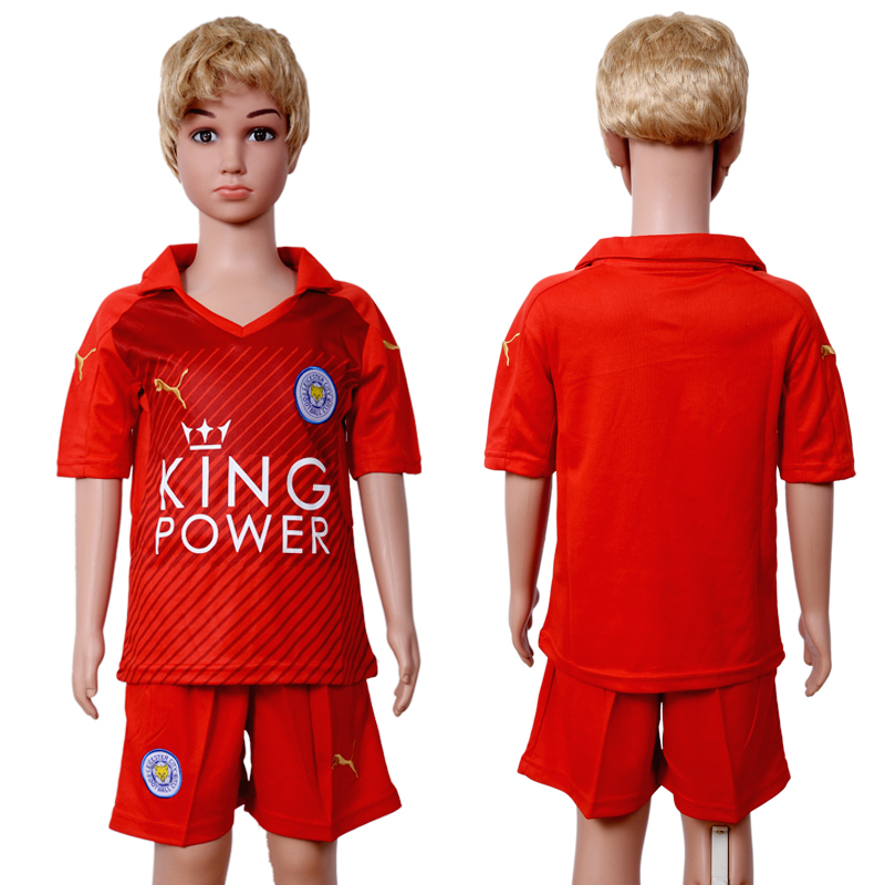2016-2017 club Leicester City away Kids soccer jerseys