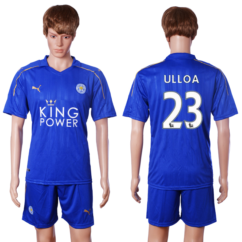 2016-2017 club Leicester City home 23 Ulloa blue soccer jerseys