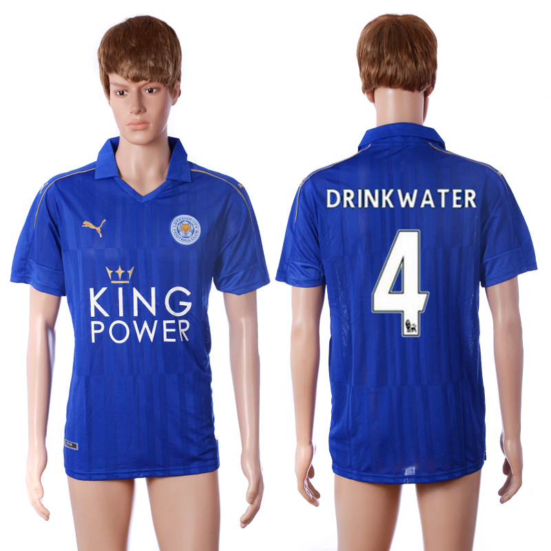 2016-2017 club Leicester City home 4 Drink water blue AAA+ soccer jerseys