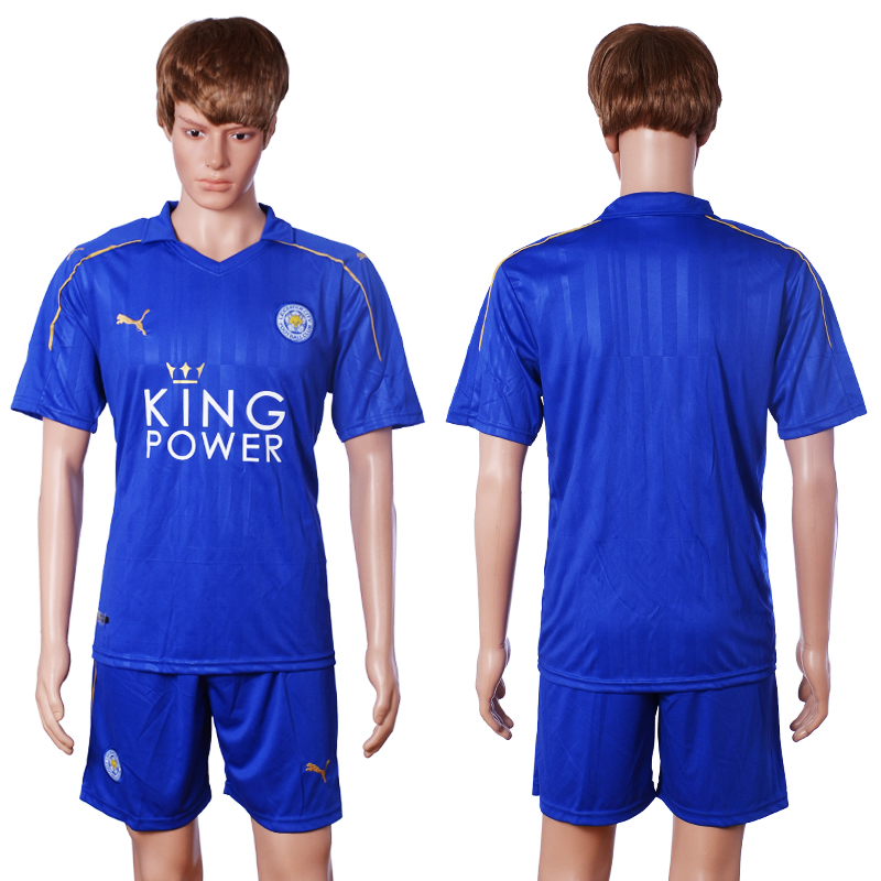 2016-2017 club Leicester City home blank blue soccer jerseys
