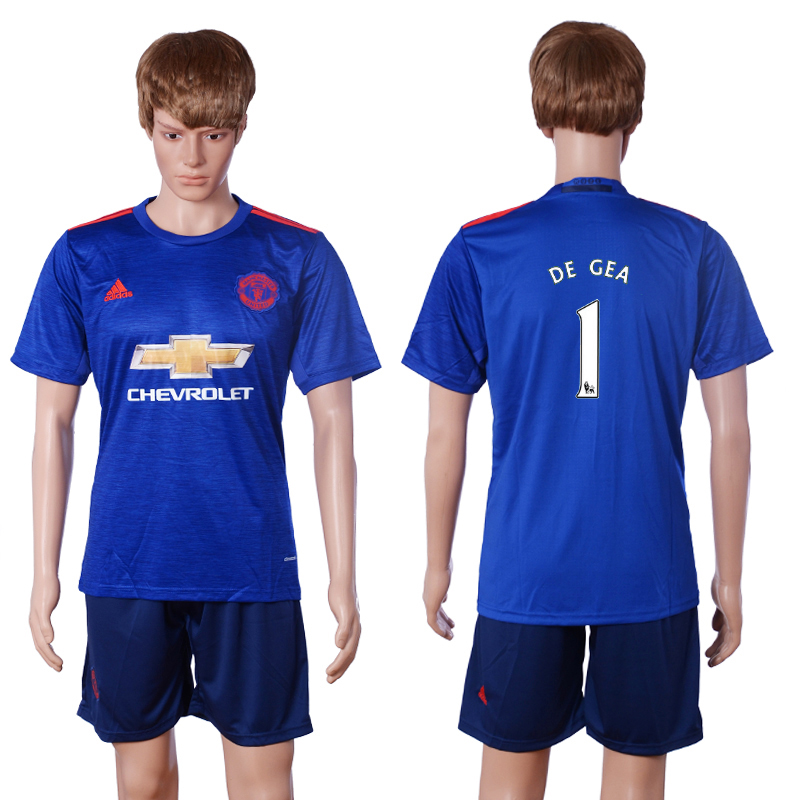 2016-2017 club Manchester United away 1 DE GEA Blue Soccer Jersey