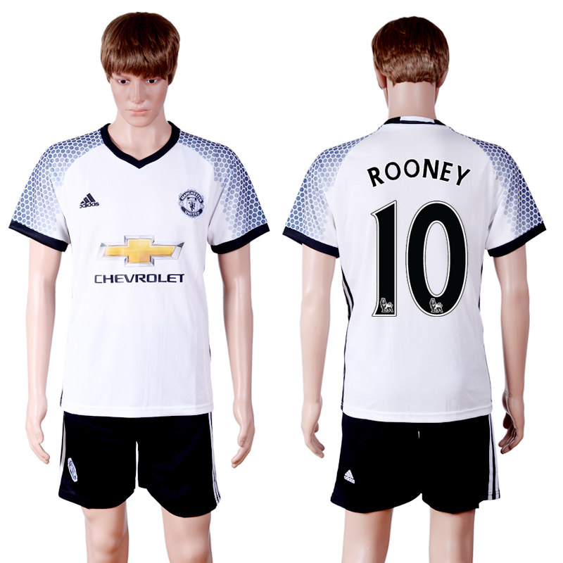 2016-2017 club Manchester United second away 10 White Soccer Jersey