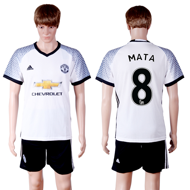 2016-2017 club Manchester United second away 8 White Soccer Jersey