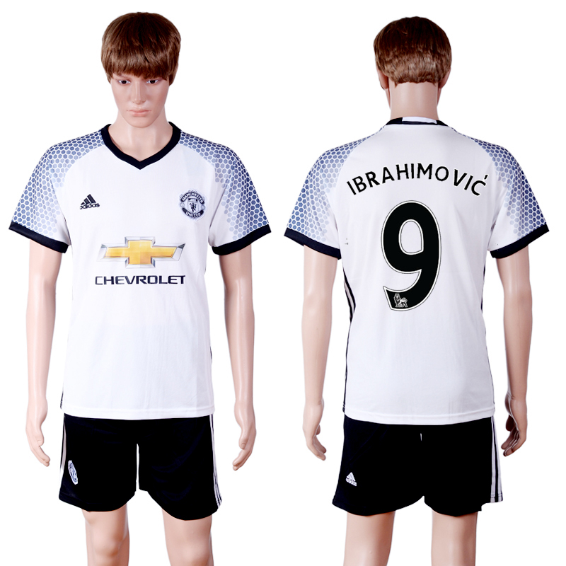 2016-2017 club Manchester United second away 9 White Soccer Jersey