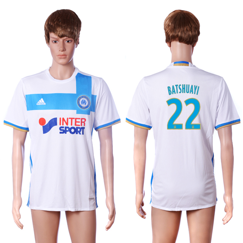 2016-2017 club Marseille home 22 BATSHUAYI White AAA+ Soccer Jersey