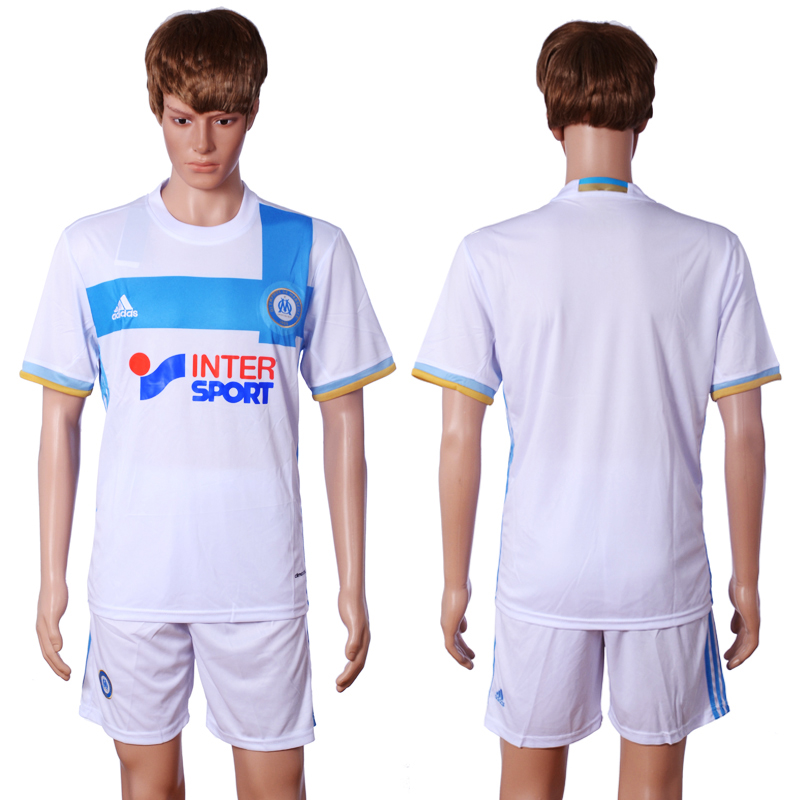 2016-2017 club Marseille home Blank White Soccer Jersey