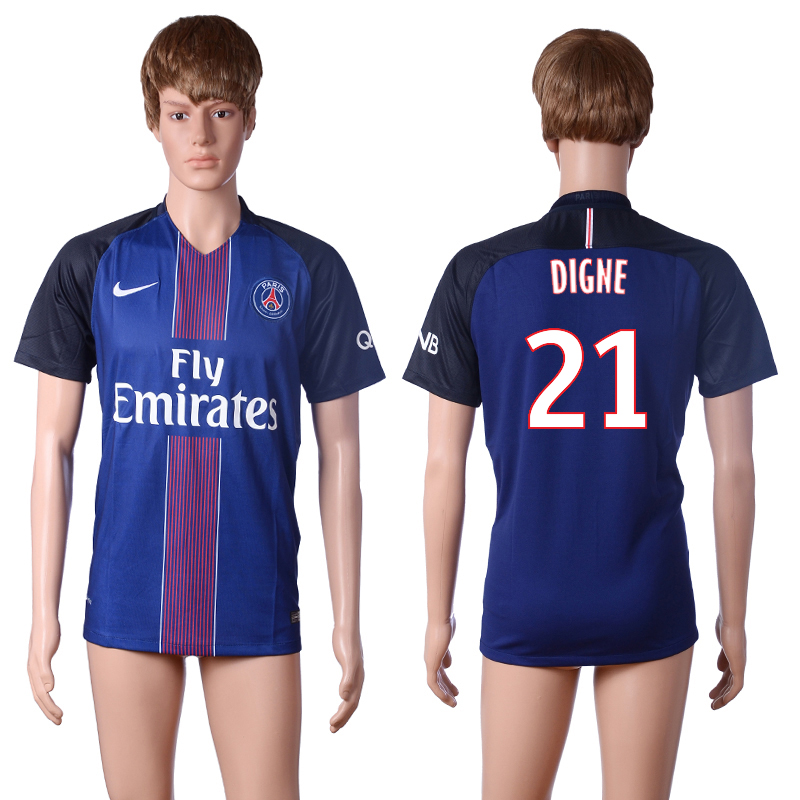 2016-2017 club Paris St Germain home 21 DIGNE Blue AAA+ Soccer Jersey