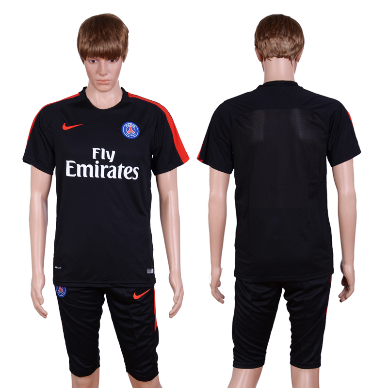 2016-2017 club Paris st germain training suit black 7 minutes of pants AAA+Soccer Jersey